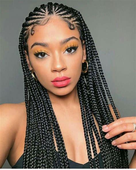 Hairstyles Braids by Ghanaian Hairstyles On Instagram Half Cornrows Half Box
