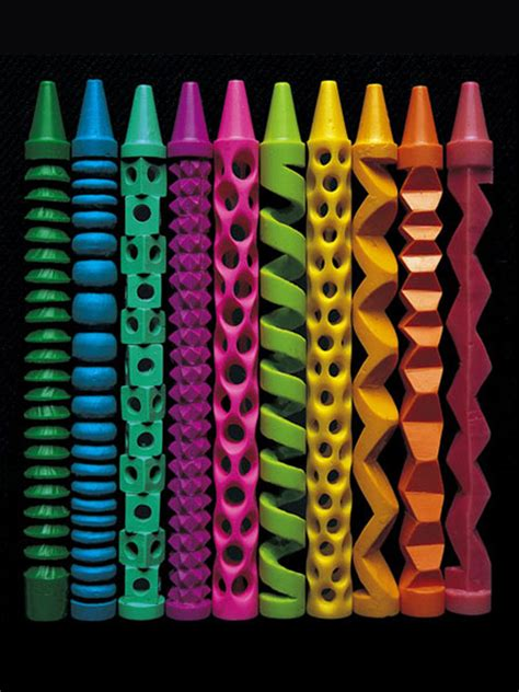 pete goldlusts sculptural crayons american craft council