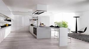 flowing open interiors from euromobil With open kitchen interior design ideas