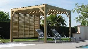 pergolas bois terrasses bois au sur mesure With terrasse bois avec pergola