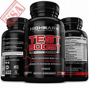 Natural Testosterone Booster For Men By Highmark Nutrition  Libido Enhancer Dietary Supplement