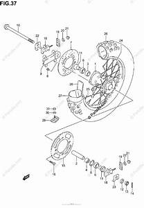 Suzuki Motorcycle 2002 Oem Parts Diagram For Rear Wheel