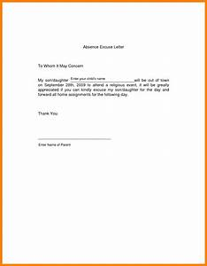 8 excuse letter for absence in school fancy resume for School absence note template free