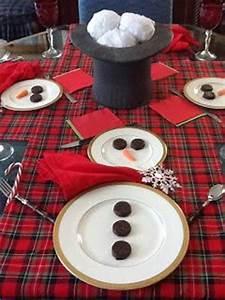 Apparecchiare la tavola di natale a forma di pupazzo di neve