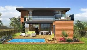 Maison En Bois Tout Compris : maison ossature bois tage 65 m 2 chambres ~ Melissatoandfro.com Idées de Décoration
