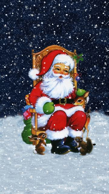 Animated Santa Wallpaper - merry santa claus gif