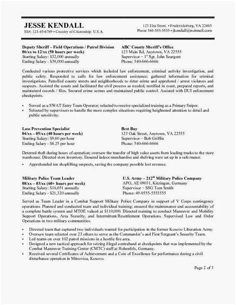Federal Resume Template by For Usa Resume Exles Customer Service