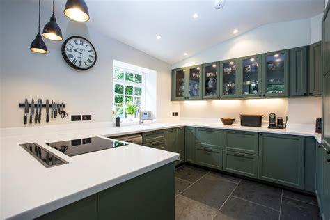 black kitchen island with stainless steel top corian kitchen worktop in cheltenham
