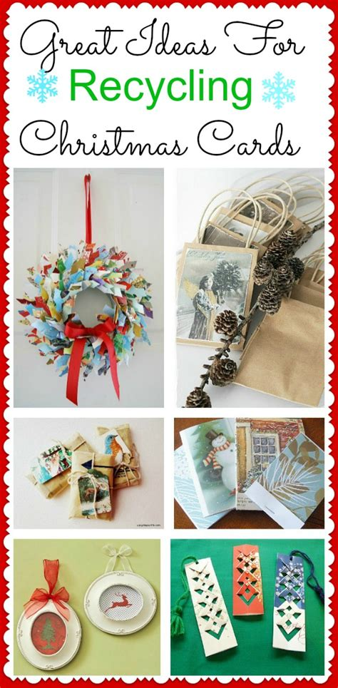 recycle christmas ideas some fantastic ideas for recycling cards a cultivated nest