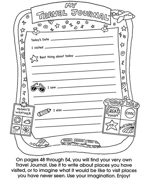 journal pages template 7 best images of travel journal printable template free printable travel journal pages