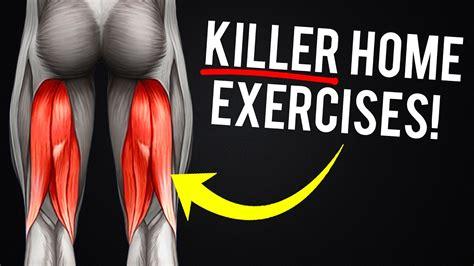 hamstrings workout  home  killer exercises  bigger