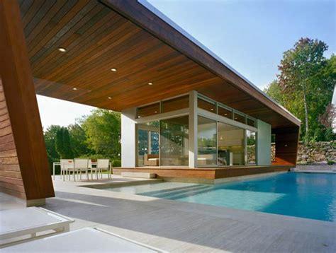 Harmonious House With Swimming Pool Design by Beautiful Pool House In Connecticut By Hariri Hariri