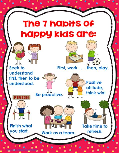 I am unable to share any of my 7 habits resources. 7 Habits of Happy Kids Freebie | Happy kids, School and Classroom management
