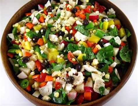 chopped recipe chopped vegetable salad with lemon garlic dressing recipe