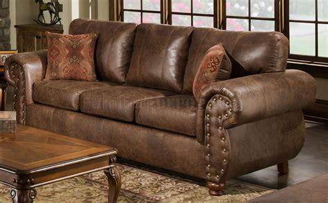 leather and microfiber sofa brown smokey leather like microfiber classic sofa loveseat set