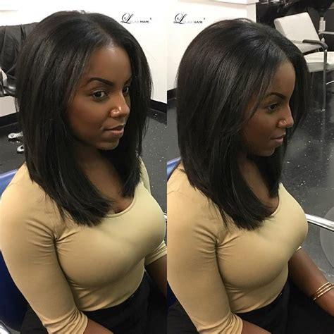 shoulder length black hair styles 30 medium length layered haircuts 2017 4220