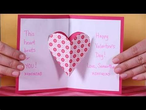 valentines day heart pop  card youtube