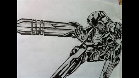 How To Draw Samus Aran Metroid Youtube