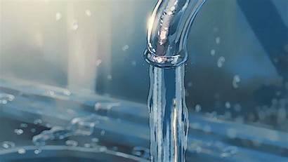 Water Gyabbo Tap Flowing Niwa Anime Gifs