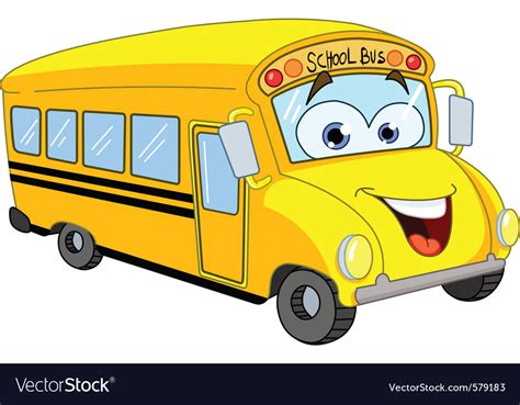 cartoon school bus royalty  vector image vectorstock