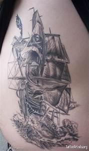 45+ Pirate Ship Tattoos Ideas