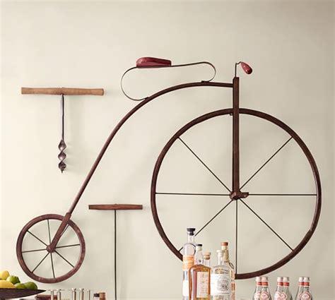 pottery barn metal wall decor high wheel bicycle wall pottery barn