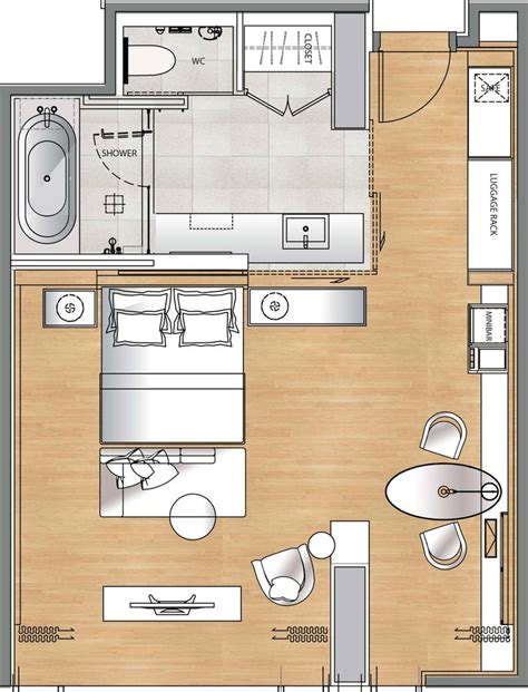 188 Best Hotel Room Plans Images On Pinterest Drawing