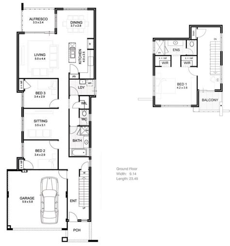 House Plans Narrow Lot Luxury  Homes Floor Plans