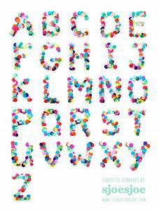 Confetti alphabet by studio sjoesjoe wwwstudiosjoesjoe for Confetti letters