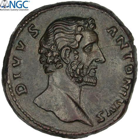 le comptoire des monnaies 30902 antonin le pieux sesterce ngc au 5 3 sup