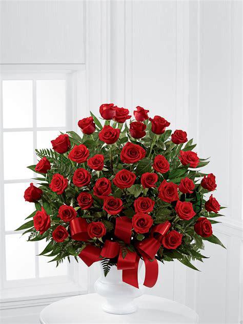 red rose service arrangement  venus flowers