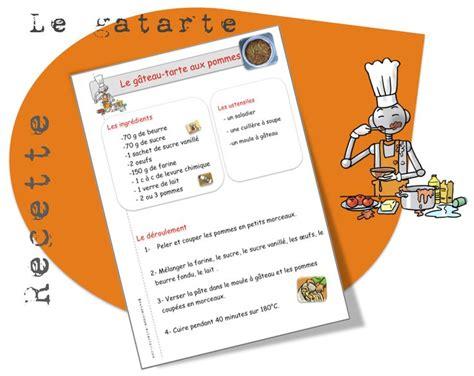 exemple de recette de cuisine 1000 images about recettes de cuisine pour la classe on