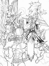 Fantasy Final Coloring Pages Deviantart Heroes Female Colouring Angel Drawings Deviant Template Popular sketch template