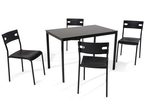 table de cuisine noir ensemble table 4 chaises de cuisine coloris noir