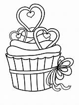 Cupcake Outline Coloring Clipart Heart Vippng Downloads Resolution Kb Ai Views sketch template