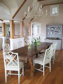 white chairs wood tables kate collins interiors