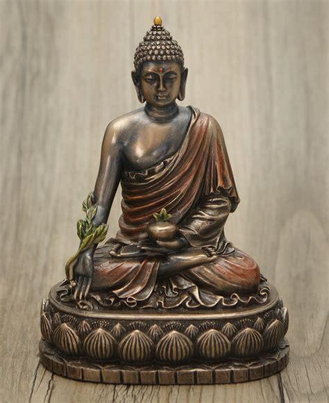 cold cast bronze medicine buddha statue  inches