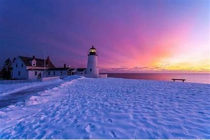 Lighthouse Desktop Winter Snow Widescreen Beaches Landscape