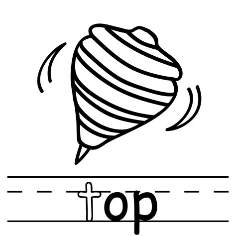 Coloring Top by Clip Basic Words Ot Phonics Tot Color I Abcteach