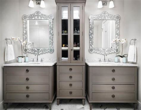 Restoration Hardware Maison Vanity by Transitional Bathroom Sherwin Williams Light Gray