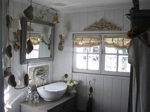 decoration salle de bain shabby chic exemples d39amenagements With salle de bain romantique photos