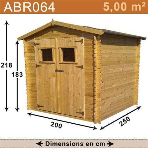 rangement cuisine pas cher abri de jardin bois 5 00 m2 trigano store