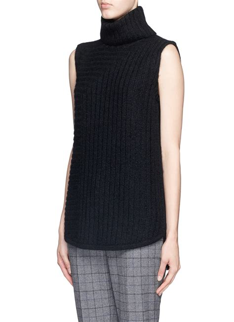 sleeveless turtleneck sweater theory 39 beylor t 39 chunky knit turtleneck sleeveless
