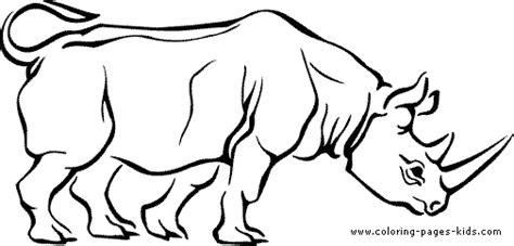 Rhinoceros Color Page