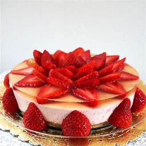 No bake Strawberry Rare Cheese Cake - Working Mom's Edible Art
