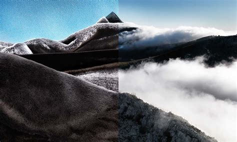 fashion landscapes converge   diptych photo series