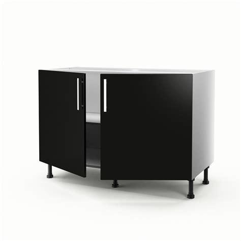 vide sanitaire meuble cuisine meuble de cuisine sous évier noir 2 portes délice h 70 x l