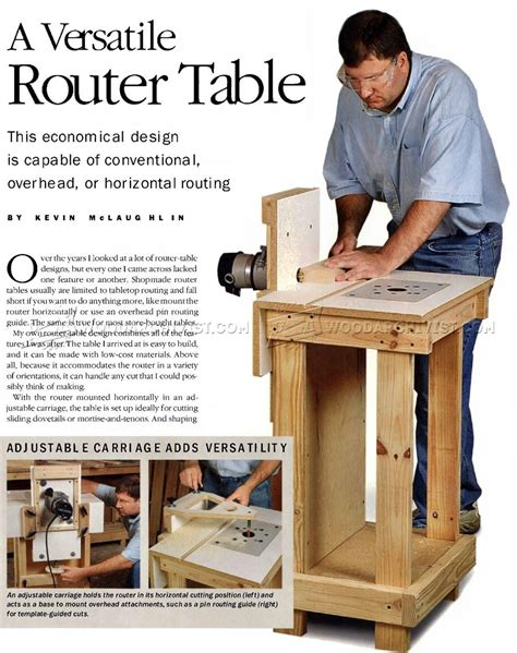 diy horizontal fence horizontal router table plans woodarchivist