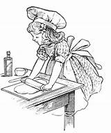 Baking Coloring Baker Pages Cooking Cake Cute Kitchen Tuesday Recipes Recipe Books Cakes Adult Digital Colouring Bake Chef Cookie Mom sketch template
