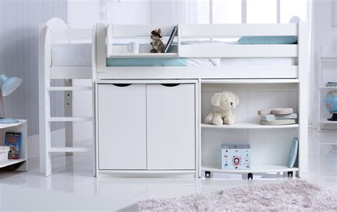 Pull Out Cupboard by Child S Midsleeper Cabin Bed With Desk Cupboard